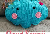 3AMGRACEDESIGNS | Kawaii Cuddler Crochet Patterns / FREE amigurumi patterns to crochet Kawaii food, desserts, and novelty pillows -- all Ragdoll style.