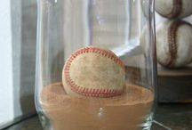 Baseball Inspired Home Decor & Accessories / My daughter plays softball and son plays baseball. Love the idea of baseball themed home decor. America's favorite pastime!