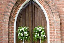 Dekorace kostel-svatby