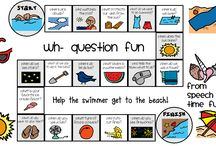 SLP: Language - WH-Questions / Ideas for improving understanding of wh-questions. Check out my blog for more ideas, http://slpmsb.blogspot.com/, and TpT for products, https://www.teacherspayteachers.com/Store/Ms-B-Slp