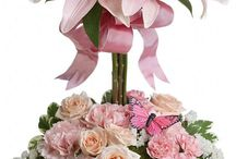 Soft pink arrangements