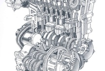 engine cutaways
