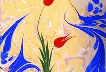 Turkish marbling art-Ebru art