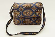 Carpet Bags new Blue Chiraz Range / Discover all of Carpet Bags handcrafted bags in its new beautiful Blue Chiraz range