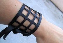 Leather n statement cuffs / by Maria G