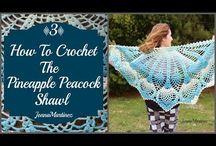 pineapple peacock shawl