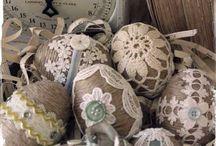 handmade fabric eggs