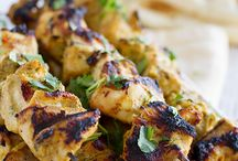 Indian style Chicken skewers