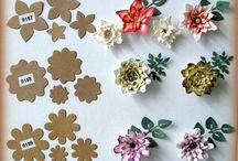 Kreasi bunga flanel