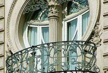 mooie gevels en balkonnetjes