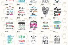 Frascos y Botellas: Frases y Deco