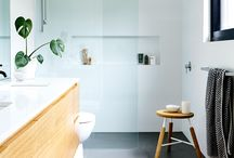 Bathrooms with timber