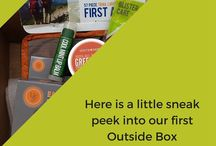 """The Outside Box / Our new subscription box, """"The Outside Box"""" - a fun box full of outdoor gear to help you get outside and enjoy nature!"""