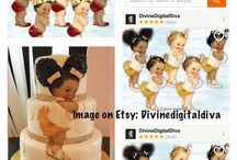 Cute afro baby puffs