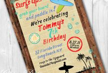 Birthday Theme - Surf's Up / Luau / Pool Party 🏄 / by Mrs M