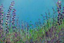 Flower Paintings / Original art flower paintings in acrylic,