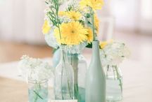 Miętowy i żółty - kolor przewodni