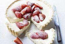 White choc and strawberry tart easy