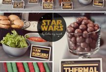 Star Wars Mystery Dinner Ideas / Foods with Star Wars theme for my daughter's birthday party / by Kristen Peden