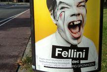 Genootschap van de Zwarte Tand / zwarte of missende tand, poster, affiche, graffity