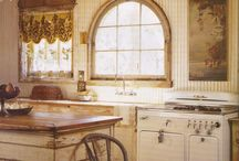 """Kitchen projects, changes, and renovations / We're moving soon, and most likely buying property with a home that we will only live in long enough to build a newer, more beautiful, more """"us"""" home. Here are a few things to get me excited about the kitchen."""