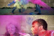 Paint fight family session