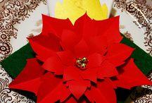 joulu kukat kankaasta