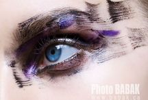 Eye, Makeup, Hair Concepts / Stylized makeup and hair ideas for model photography.