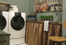 Laundry Room Ideas / by The Purple Painted Lady ~ Tricia Kuntz