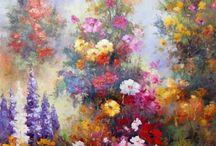 Pinturas de Sergey Minaev - Jardins