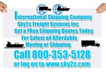 Cheapest Shipping Company / Sky2c is one of the best and affordable shipping companies which provides Cargo, Air, Sea or Oversea shipping worldwide. Get free quotes and ship your goods or gifts items at cheap rates. / by Sky2c Freight Systems