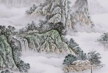 Chinese Mountains and Water  Paintings / Chinese Mountains and Water Paintings from CNArtGallery.com http://www.cnartgallery.com/60-chinese-mountains-and-water-paintings