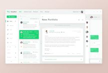 White and green UI / UI examples in white and green