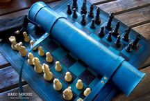rollup leather chess boards