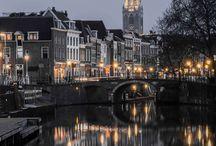 Utrecht, Holland / Utrecht en zijn domtoren. (Holland, Utrecht, Domtoren, Oude Gracht) Fotoprint, Canvas etc. www.fjooto.nl