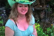 Festett kalapjaim / Összecsukható kalapok színes virágokkal
