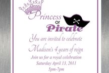 Calling All Princesses and Pirates / Party Ideas and Inspiration for planning the perfect Princess/Pirate party!