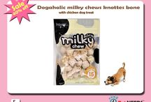 Buy Dogaholic Milky Chews Knotted Bone With Chicken Dog Treat
