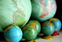 Worldly Wonders / Decorating with maps, globes, and a sense of adventure.