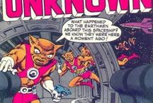 """Sci-Fi/ Comic / A selection from: From Beyond the Unknown.  An American science-fiction comic book series published by DC Comics. It ran bi-monthly for 25 issues, from October 1969 to December 1973. There was an extra month's gap in mid-1973, between issues 22 and 23,[1] although as it happened the comic was cancelled at the end of that year.  From Beyond the Unknown was an anthology series, whose tagline promised to provide """"Stories that Stagger the Imagination"""". The series reprinted stories from earlier / by Tidy Eye"""