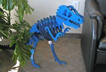 Dinosaur Skeleton Pattern 3D