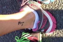 Running tattoos