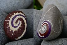 painted rocks/garden art