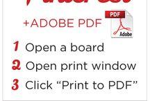 saving & printing pins