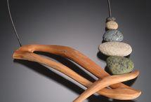 kamień,drewno
