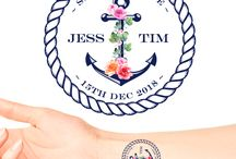 Save The Date Temporary Tattoos for Engagement Parties