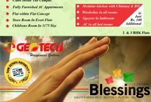 Geotech Blessings / Exclusively marketed by Reality infra, Geotech Blessings Noida Extension 2BHK @ 30 Lakhs Book in just 50000 rest on possession. 09212301155