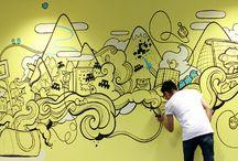 Mural dinding kreatif