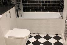 Our Black and white bathroom / Bathroom transformation