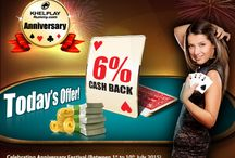 Anniversary Bonanza / 6% to 15% Cash-back given away on wagers as Anniversary Bonanza between 1st -10th July 2015